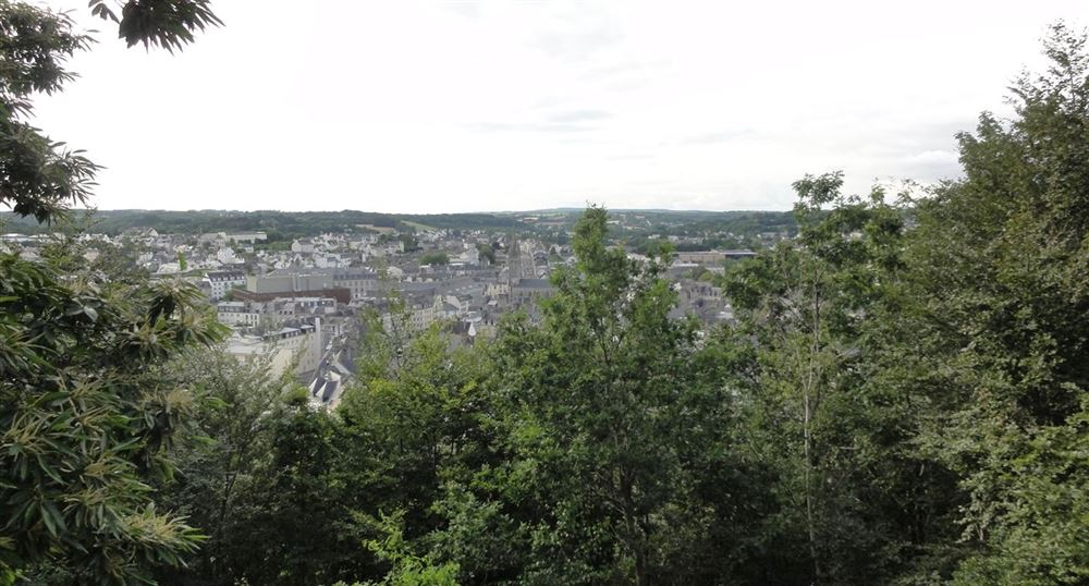 View of Quimper and region