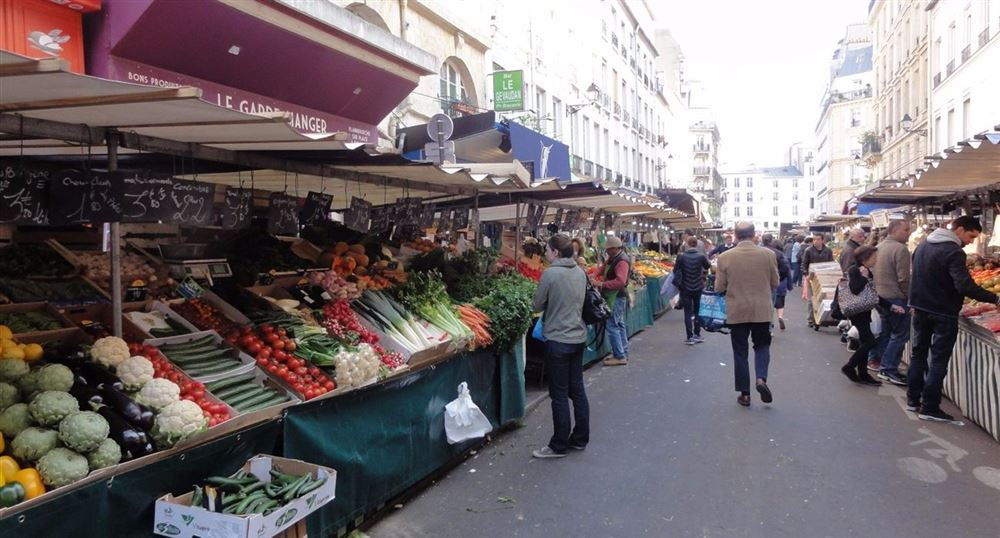 The aisles of the market
