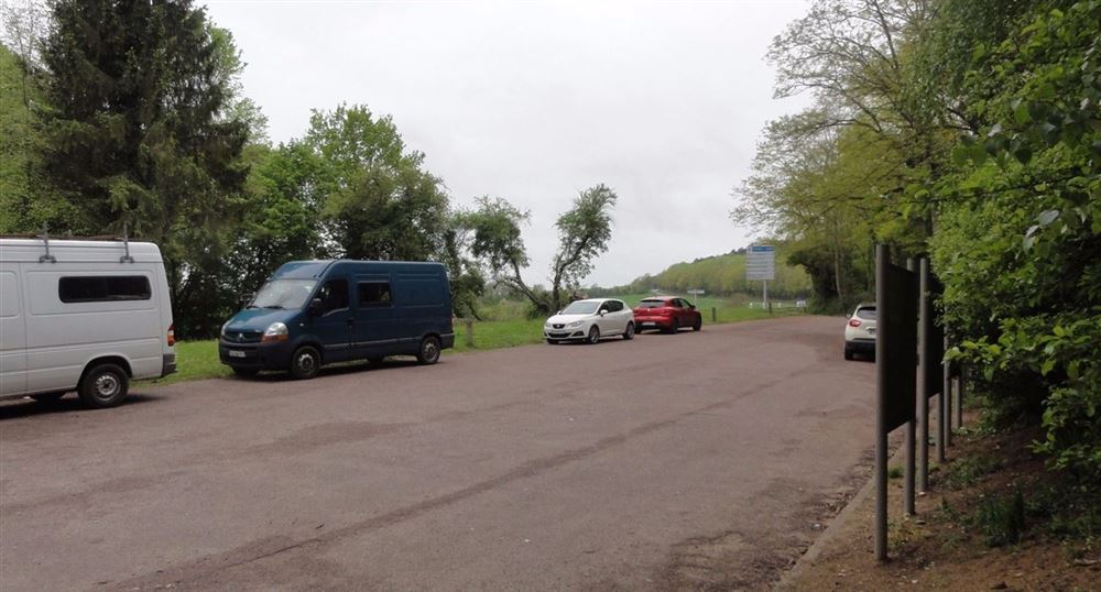 Parking at the Observatory of the Chemin des Dames