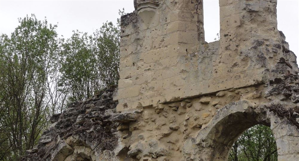 The remains of the walls