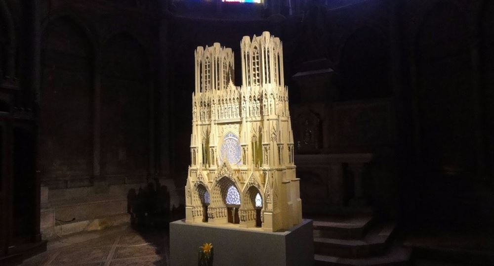 Maquette de la cathédrale de Reims