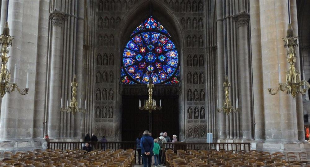 The stained glass windows of the Cathedral of Reims