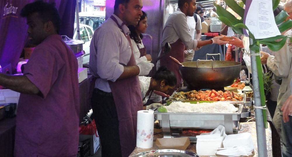 A Thai food stand