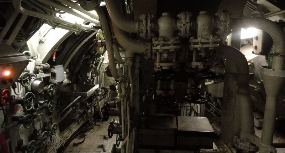 'The submarine''s engine room'