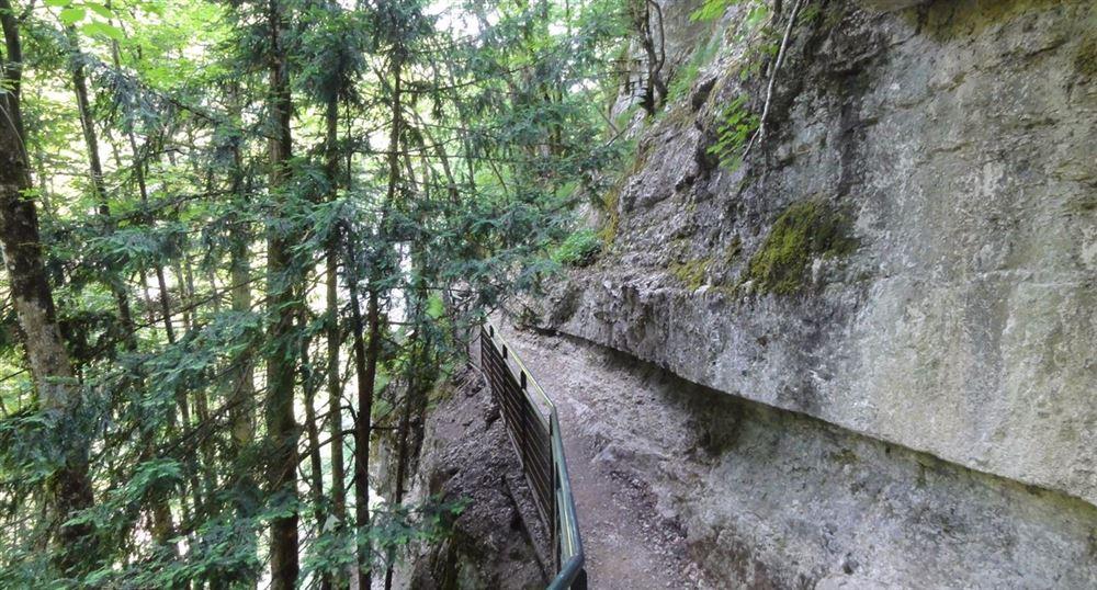 Chemin au-dessus des cascades