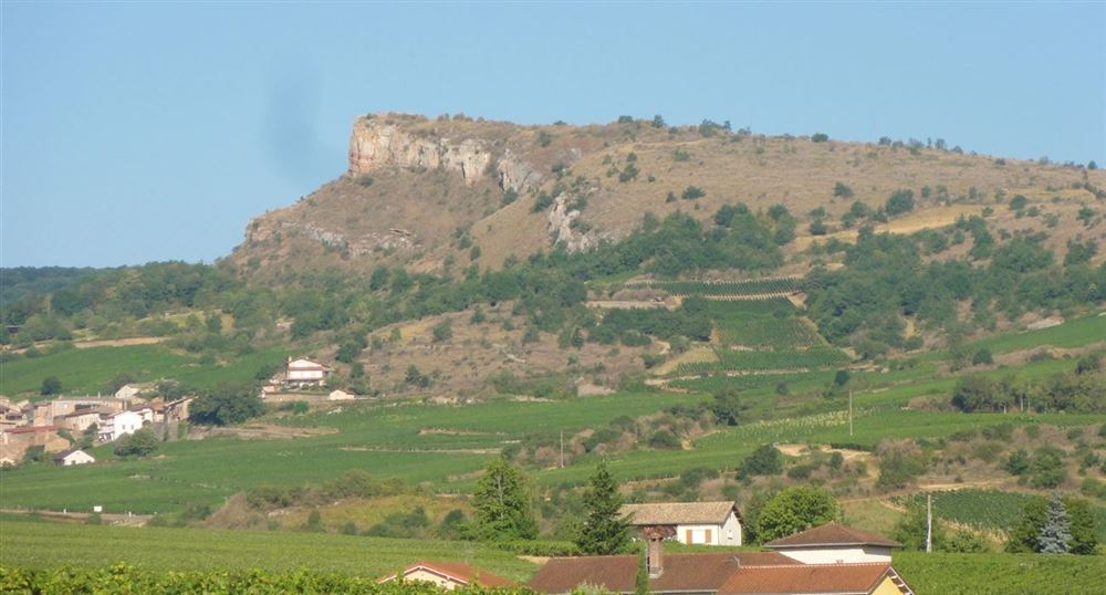 The Solutré rock from a distance