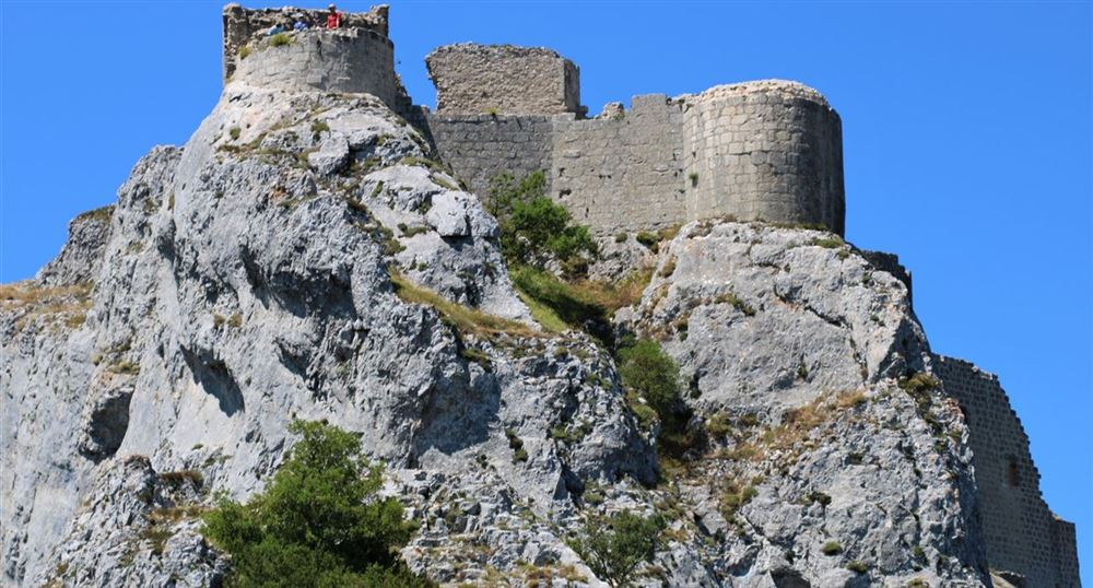 View of the castle of Peyrepertuse