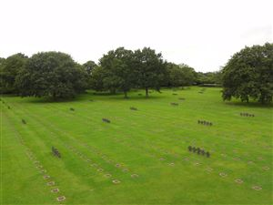 The German cemetery in La Cambe in Normandy