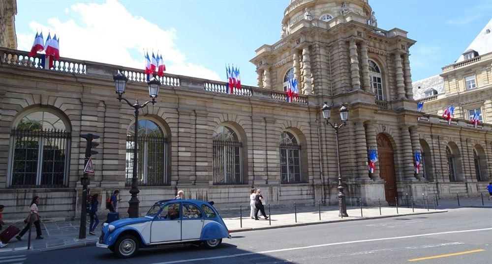The façade of the Senate