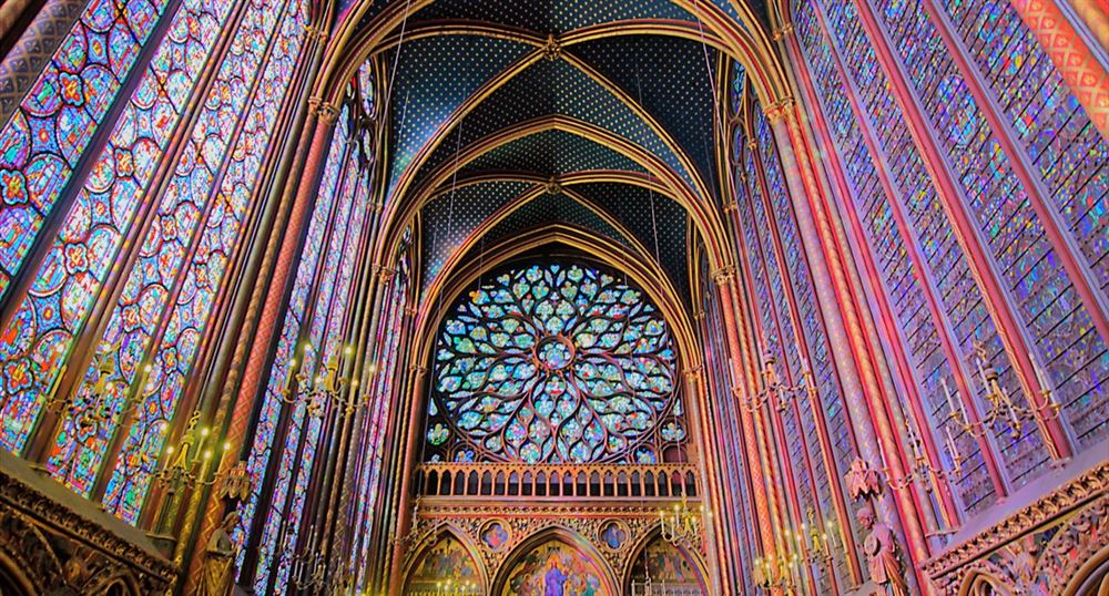 The stained glass windows of the Sainte-Chapelle