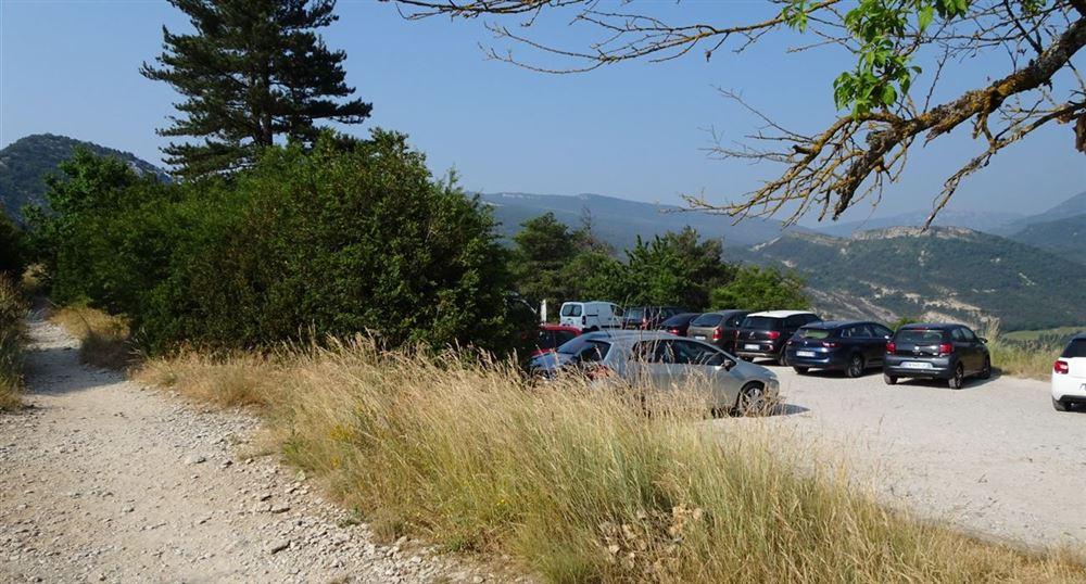 Le parking du Point Sublime