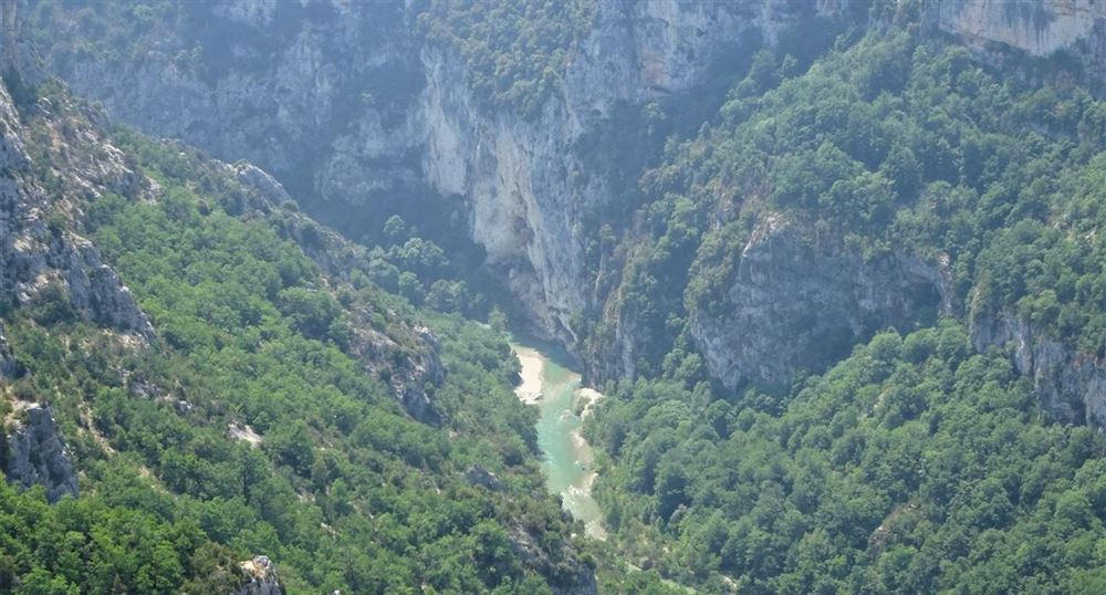 The Verdon in the gorges