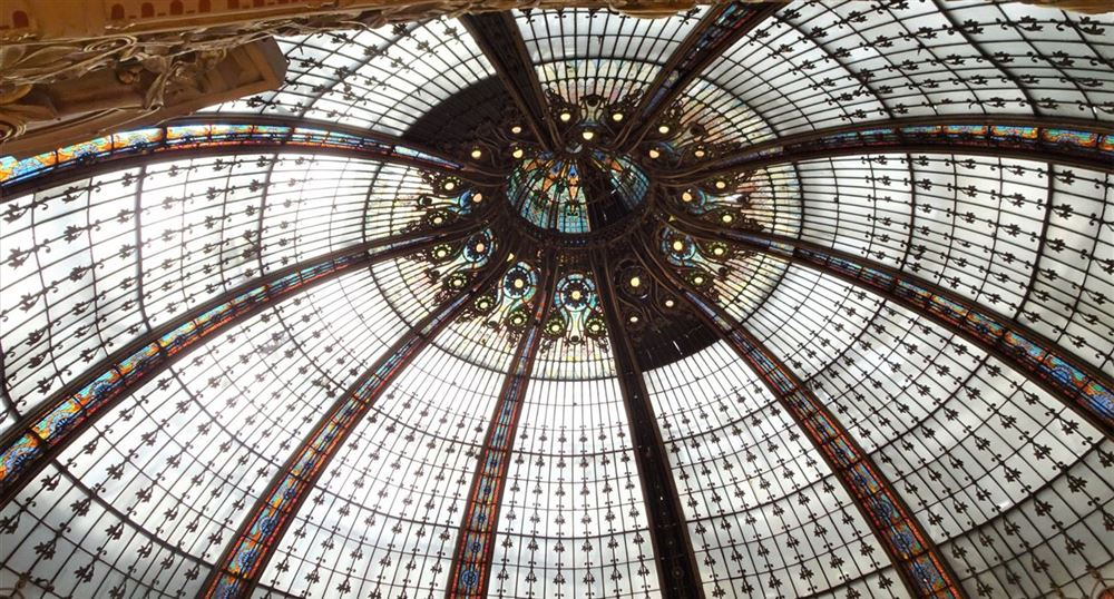 The famous dome of  the Galeries Lafayette