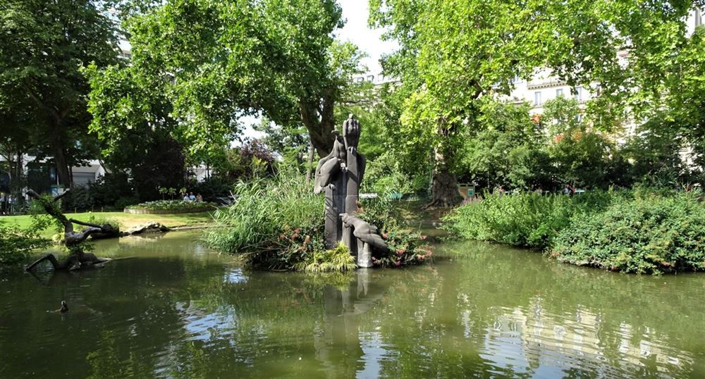 La pièce d'eau du square des Batignolles