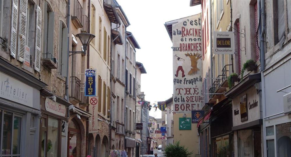 La rue commerçante