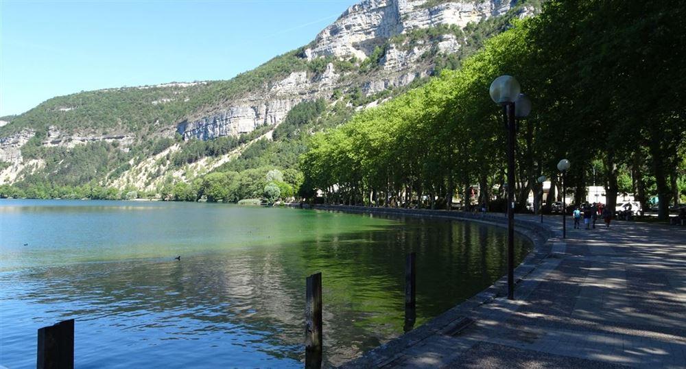 The docks around the lake