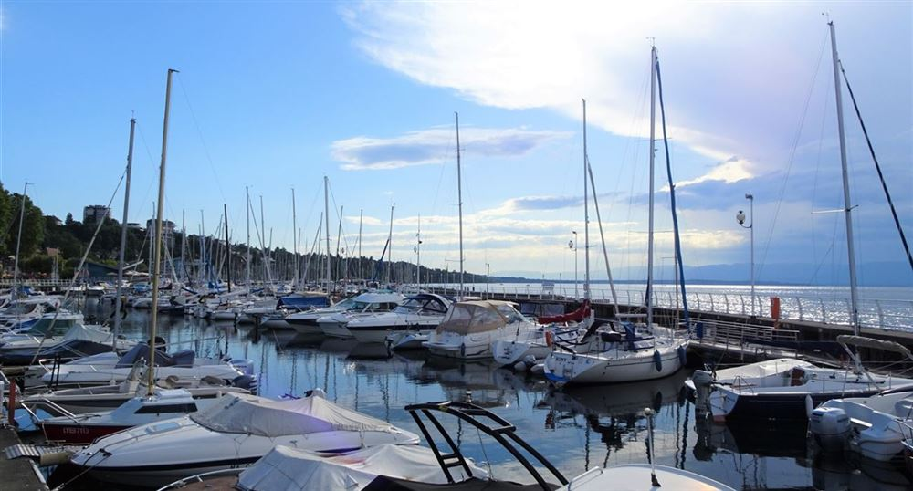 Le port de plaisance de Thonon