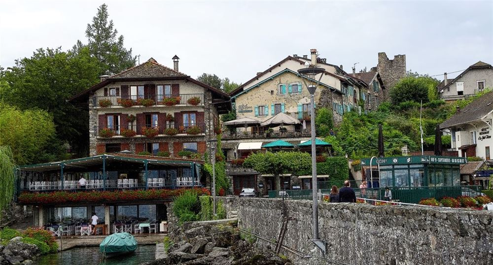 Les restaurants au bord du lac