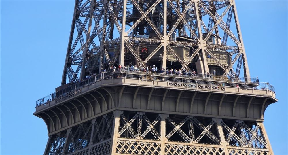 The floors of the Eiffel Tower