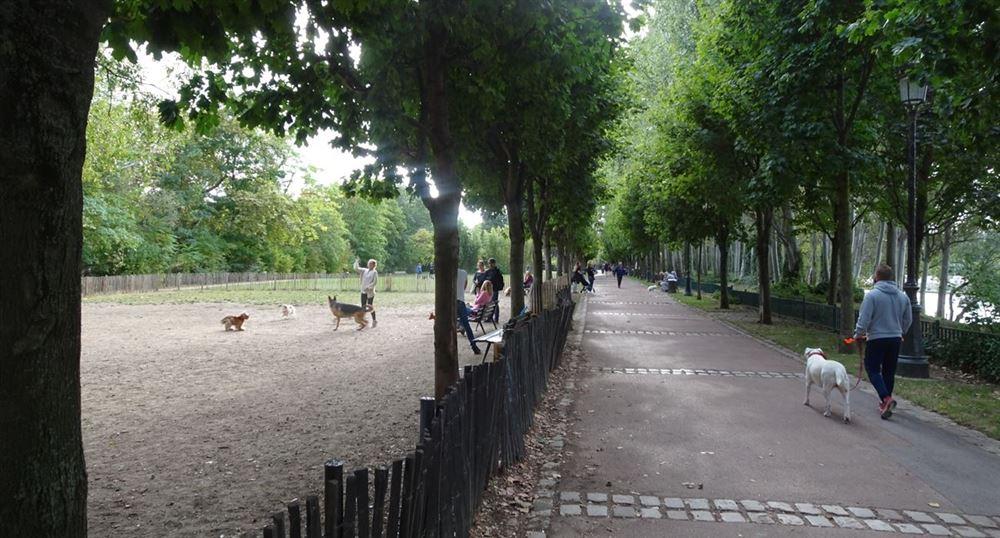 Le parc de l'île de la Jatte