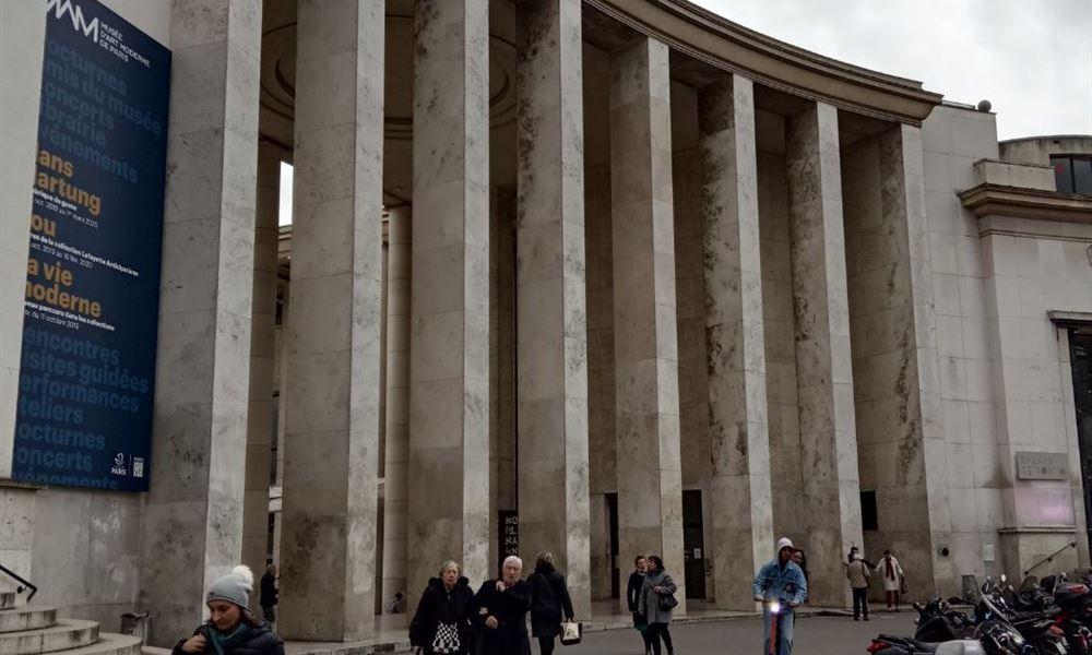 L'entrée du Musée d'Art Moderne