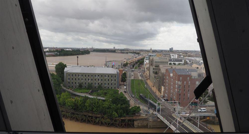 La vue sur Bordeaux