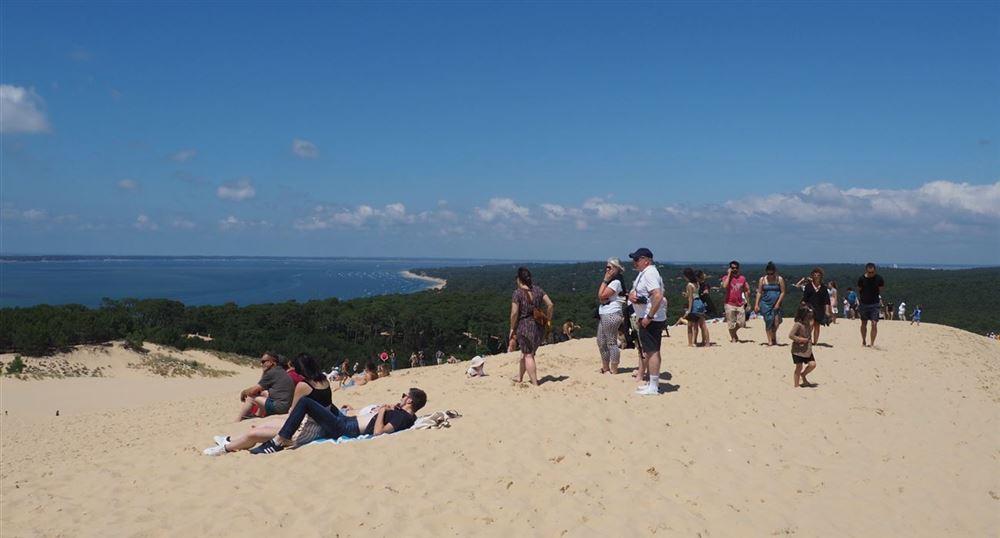 En haut de la dune du Pyla